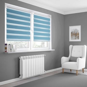 Light Blue Day and Night Blinds Made To Measure in Sky